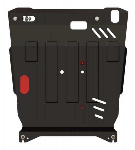 Защита картера и КПП сталь 2 мм Шериф 14.1282 Mitsubishi Outlander XL 2006–07.2012