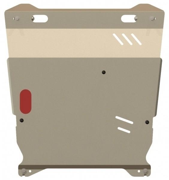 Защита картера и КПП алюминий 5 мм Шериф 14.1291 Mitsubishi Lancer X 2007–
