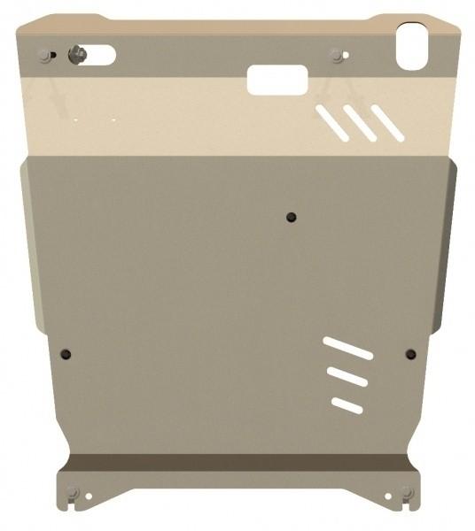 Защита картера и КПП алюминий 5 мм Шериф 14.1292 Mitsubishi Outlander XL 2006–07.2012