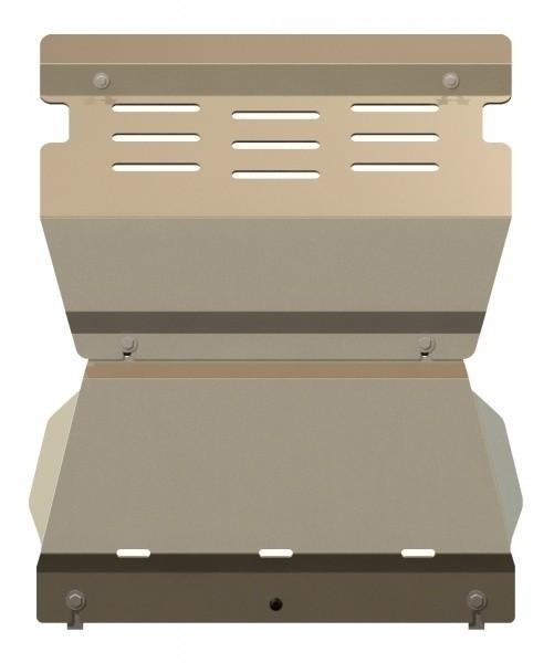 Защита картера алюминий 5 мм Шериф 14.2235 Mitsubishi Pajero III 2000–2006