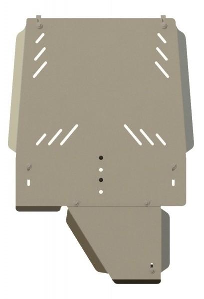 Защита КПП и РК алюминий 5 мм Шериф 14.2237 Mitsubishi Pajero III 2000–2006