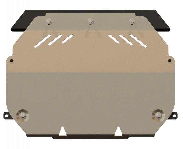Защита картера и КПП алюминий 5 мм Шериф 14.2307 Mitsubishi Outlander 08.2012–