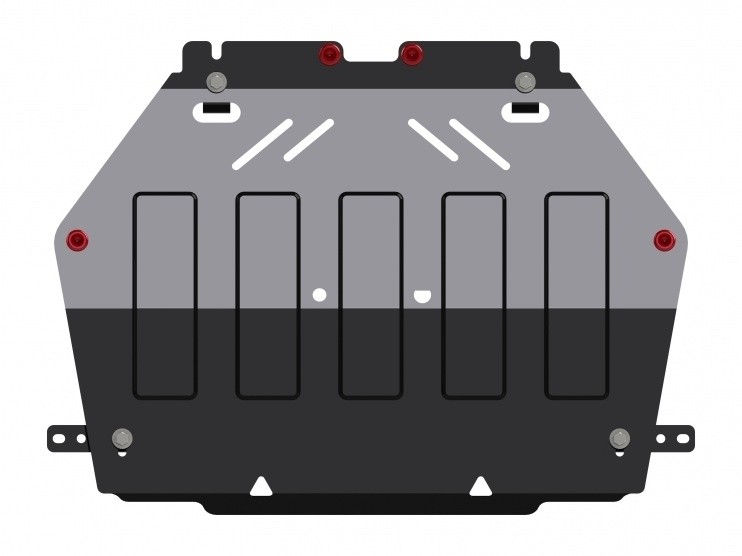 Защита картера и КПП сталь 2 мм Шериф 14.2580 Mitsubishi Outlander сборка Япония 08.2012–