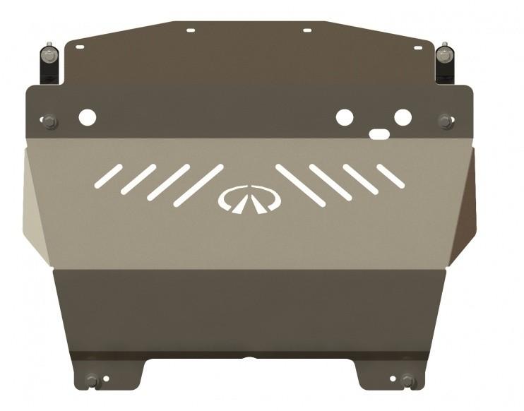 Защита картера алюминий 5 мм Шериф 15.0919 Infiniti Q70 (M35) 2006–