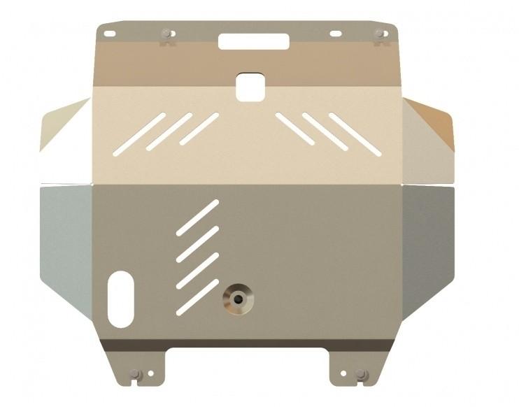 Защита картера и КПП алюминий 5 мм Шериф 15.0956 Nissan X-Trail 2001–2007