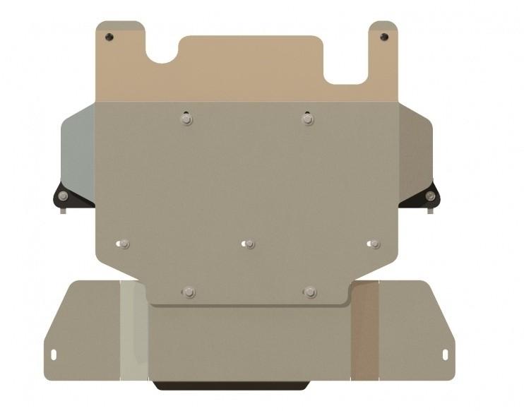 Защита КПП и РК алюминий 5 мм Шериф 15.1126 Nissan Patrol/3дв. 2000–2010