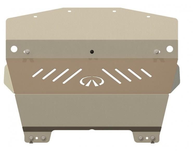 Защита картера алюминий 5 мм Шериф 15.1180 Infiniti Q50/Q60 (G37) 2009–2014