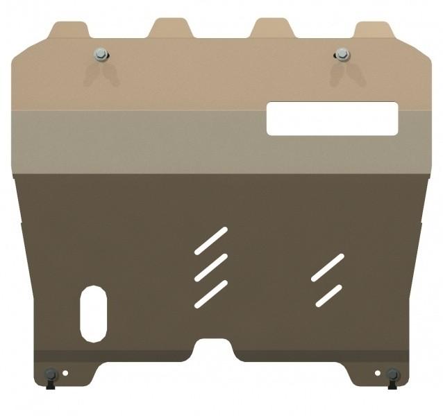 Защита картера и КПП алюминий 5 мм Шериф 15.1596 Nissan Murano 2008–2010