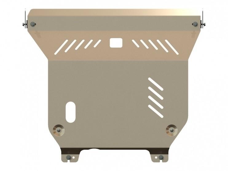 Защита картера и КПП алюминий 5 мм Шериф 15.1686 Nissan Almera Classic 2006–2013