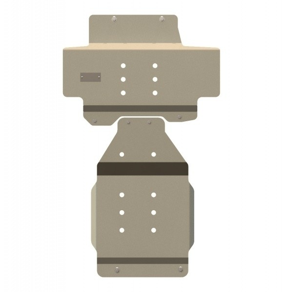 Защита картера и КПП алюминий 5 мм Шериф 15.1750 Nissan Patrol 2010–