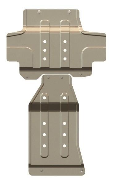 Защита картера и КПП алюминий 3 мм Шериф 15.2262 Nissan Patrol 2010–