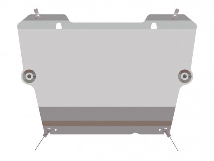 Защита картера и КПП алюминий 5 мм Шериф 15.2623 Nissan Qashqai 2014–