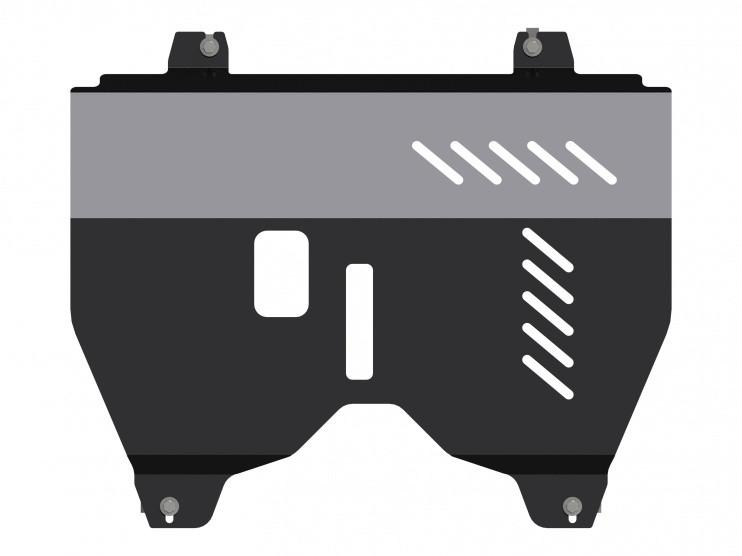 Защита картера и КПП сталь 2,5 мм Шериф 15.2624 Nissan Pathfinder 2014–
