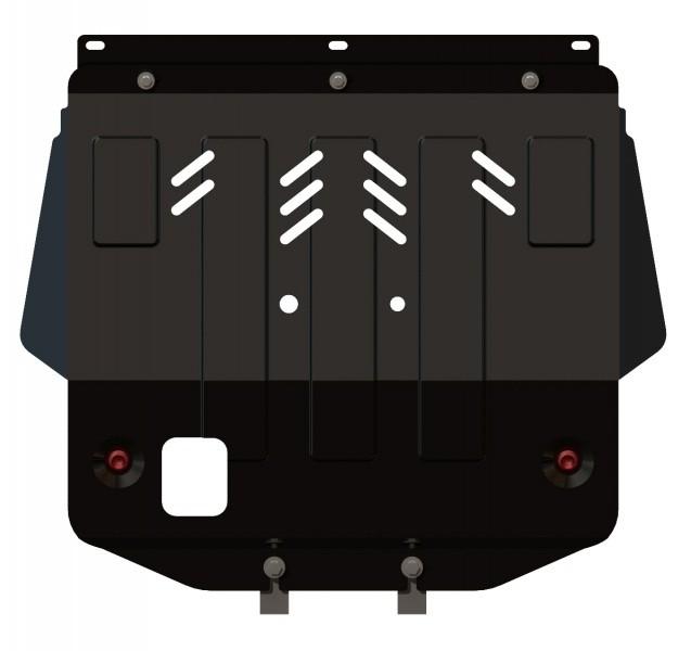 Защита картера и КПП сталь 2 мм Шериф 17.0131 Peugeot 306 кроме 1, 6 1994–2001