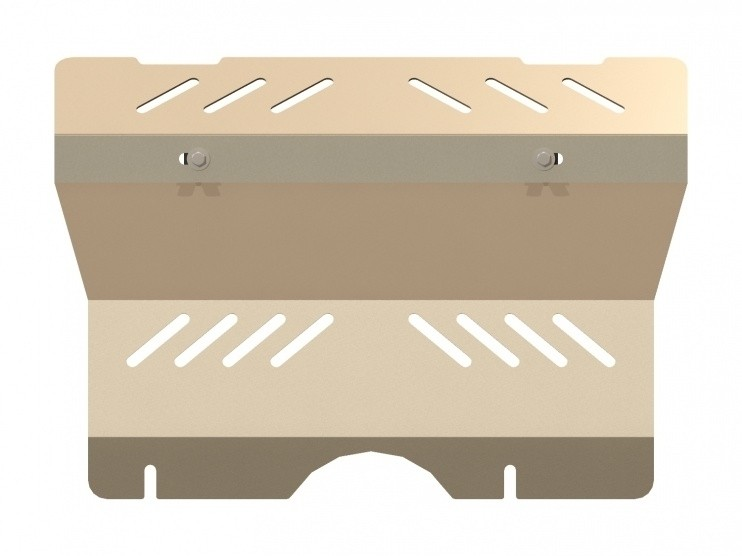 Защита рулевых тяг алюминий 5 мм Шериф 24.0857 Toyota Land Cruiser Prado 120  – для 0860, 0861 на штатную защиту 2002–2009