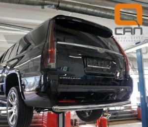 Can Otomotiv CAES.57.3349 защита заднего бампера Cadillac Escalade (2014-) (одинарная) d 76