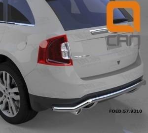 Can Otomotiv FOED.57.9310 защита заднего бампера Ford Edge (2014-) (одинарная волна) d 60