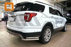 Can Otomotiv FOEX.53.9210 защита заднего бампера Ford Explorer (2015-) (уголки) d60/42