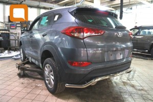 Can Otomotiv HYTU.55.1241 защита заднего бампера Hyundai Tucson (2015-) (волна) d60 кроме High-tech