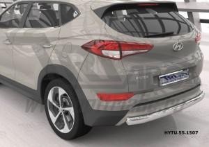 Can Otomotiv HYTU.55.1507 защита заднего бампера Hyundai Tucson (2015-) (одинарная) овал, короткая d75х42 кроме High-tech*