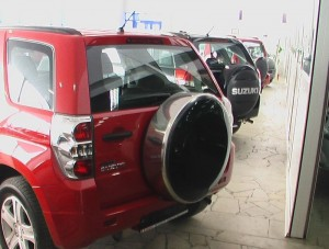 Руссталь бокс запасного колеса на Suzuki Grand Vitara