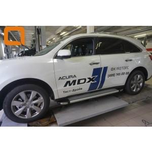 Can Otomotiv ACMD.48.2502 пороги алюминиевые (Brillant) Acura MDX (2014-) (серебр)