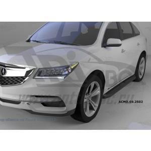 Can Otomotiv ACMD.69.2502 пороги алюминиевые (Corund Black) Acura MDX (2014-)
