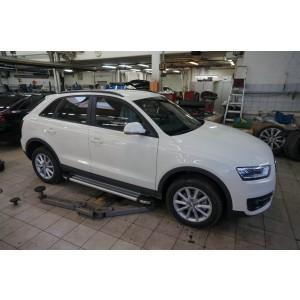 Can Otomotiv AUQ3.48.3325 пороги алюминиевые (Brillant) Audi Q3 (2011-) (серебр)