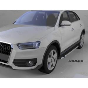 Can Otomotiv AUQ3.48.3326 пороги алюминиевые (Brillant) Audi Q3 (2011-) (черн/нерж)