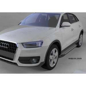 Can Otomotiv AUQ3.51.3325 пороги алюминиевые (Sapphire Silver) Audi Q3 (2011-)