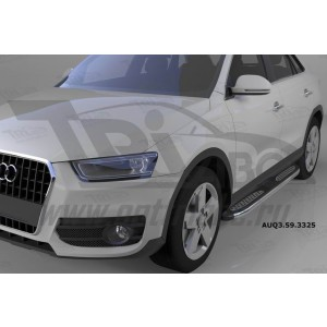 Can Otomotiv AUQ3.59.3325 пороги алюминиевые (Zirkon) Audi Q3 (2011-)