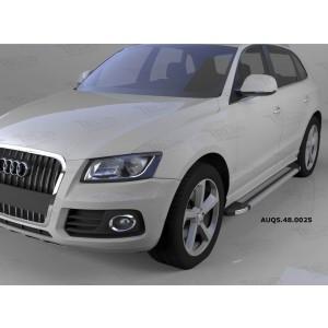 Can Otomotiv AUQ5.48.0025 пороги алюминиевые (Brillant) Audi Q5 (2009-) (серебр)