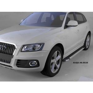 Can Otomotiv AUQ5.48.0026 пороги алюминиевые (Brillant) Audi Q5 (2009-) (черн/нерж)