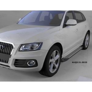 Can Otomotiv AUQ5.51.0025 пороги алюминиевые (Sapphire Silver) Audi Q5 (2009-)