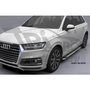 Can Otomotiv AUQ7.48.0026 (A) пороги алюминиевые (Brillant) Audi Q7 (2015-) (серебр) с панорамной крышей