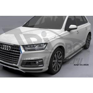 Can Otomotiv AUQ7.51.0026 (A) пороги алюминиевые (Sapphire Silver) Audi Q7 (2015-) с панорамной крышей