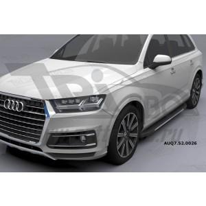 Can Otomotiv AUQ7.52.0026 (A) пороги алюминиевые (Onyx) Audi Q7 (2015-) с панорамной крышей