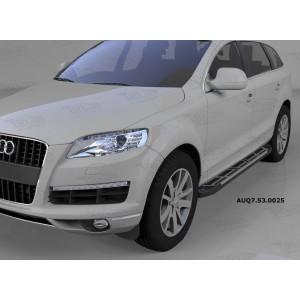 Can Otomotiv AUQ7.53.0025 пороги алюминиевые (Corund Silver) Audi Q7 (2009-2015) (нагр. до 40 кг.)