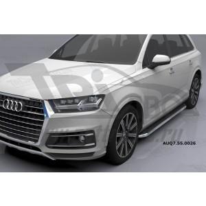 Can Otomotiv AUQ7.55.0026 (A) пороги алюминиевые (Ring) Audi Q7 (2015-) с панорамной крышей