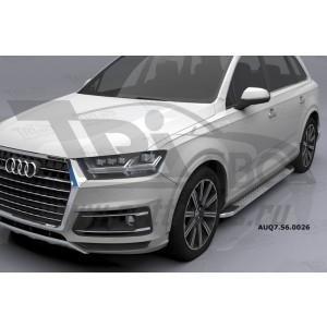 Can Otomotiv AUQ7.56.0026 (A) пороги алюминиевые (Opal) Audi Q7 (2015-) с панорамной крышей
