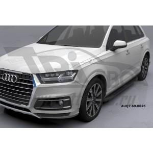 Can Otomotiv AUQ7.69.0026 (A) пороги алюминиевые (Corund Black) Audi Q7 (2015-) с панорамной крышей