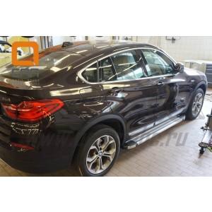 Can Otomotiv BMX3.48.0034 пороги алюминиевые (Brillant) BMW X3 (F25 2010-) (серебр)