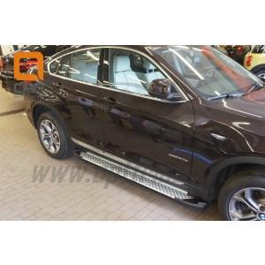Can Otomotiv BMX3.51.0034 пороги алюминиевые (Sapphire Silver) BMW X3 (F25 2010-)