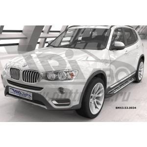Can Otomotiv BMX3.53.0034 пороги алюминиевые (Corund Silver) BMW X3 (F25 2010-)