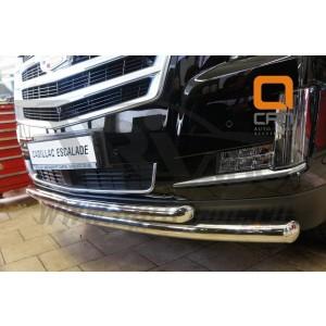 Can Otomotiv CAES.33.3346 защита переднего бампера Cadillac Escalade (2014-) (двойная) d 76/76
