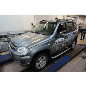Can Otomotiv CENI.47.2121 пороги алюминиевые (Alyans) Chevrolet Niva (2008-)