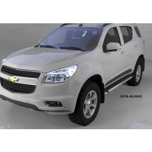 Can Otomotiv CETB.48.0093 пороги алюминиевые (Brillant) Chevrolet TrailBlazer (2013-) (черн/нерж)