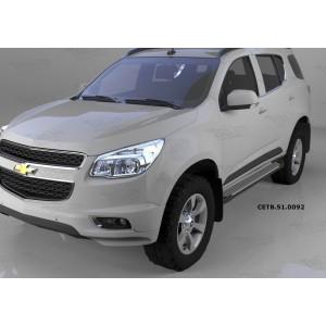 Can Otomotiv CETB.51.0092 пороги алюминиевые (Sapphire Silver) Chevrolet TrailBlazer (2013-)