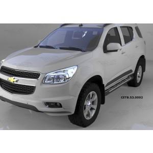 Can Otomotiv CETB.53.0092 пороги алюминиевые (Corund Silver) Chevrolet TrailBlazer (2013-)