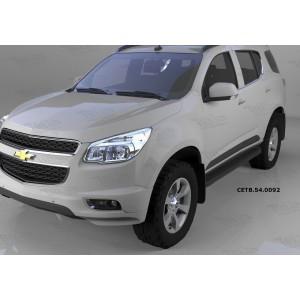Can Otomotiv CETB.54.0092 пороги алюминиевые (Sapphire Black) Chevrolet TrailBlazer (2013-)